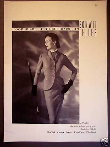 English Sharkskin Suit Bonwit Teller Fashion (1951)