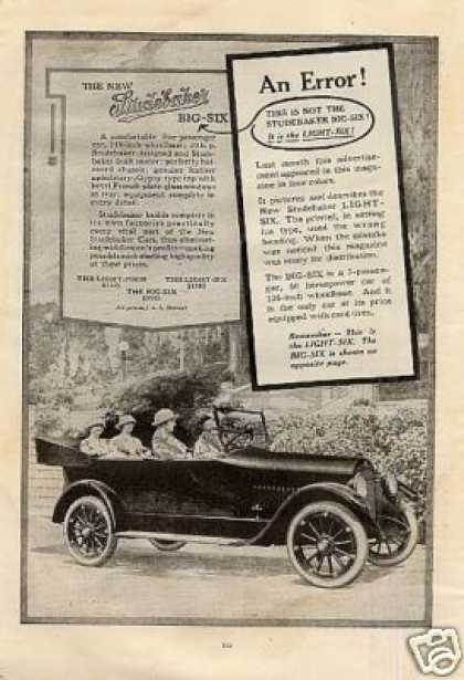 Studebaker Big Six Car (1923)