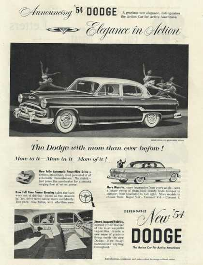 Dodge Royal V-8 Four Door Sedan Car Print (1953)