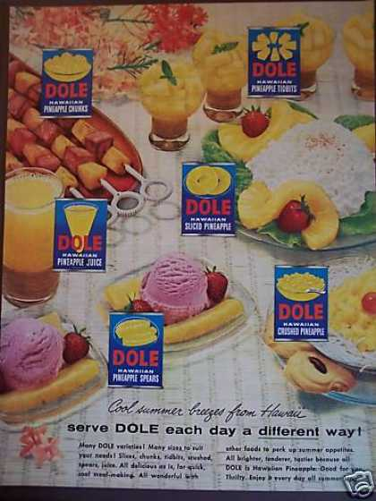 Cool Summer Dole Hawaiian Pineapple (1954)
