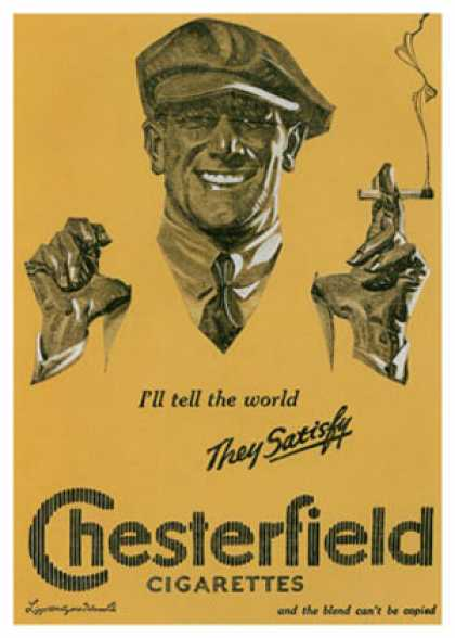 Chesterfield – J. C. Leyendecker (1921)
