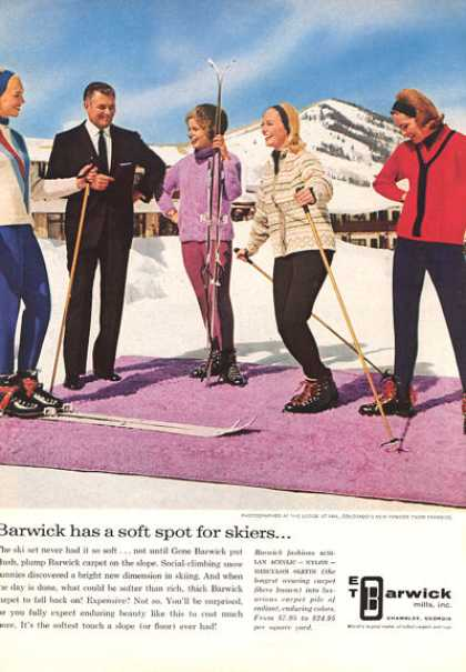 Barwick Snow Ski Skiers Lodge at Vail Colorado (1964)