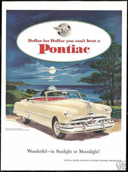 Pontiac Eight Convertible Car Moonlight (1951)