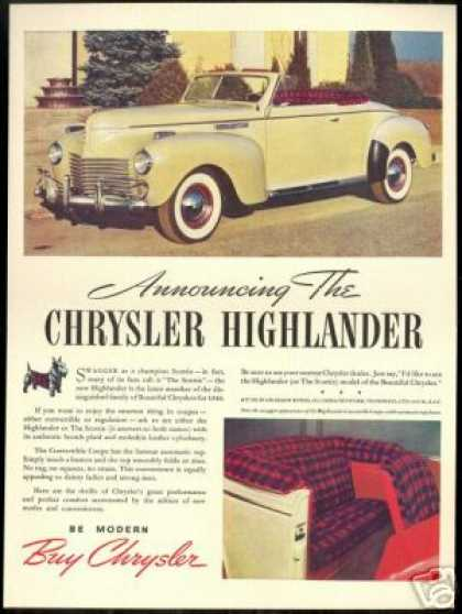 Chrysler Highlander Convertible Coupe Photo (1940)