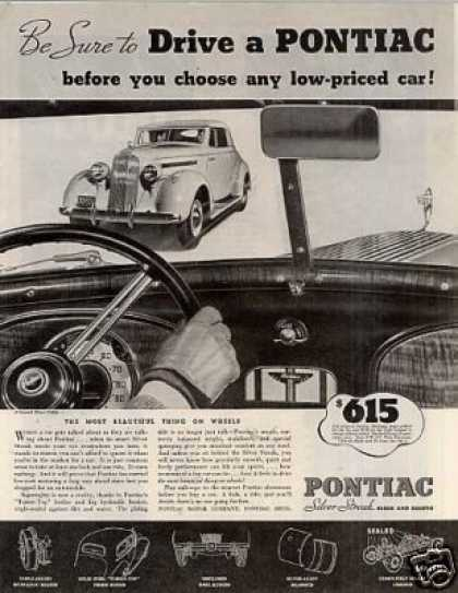 "Pontiac Car Ad ""Be Sure To Drive... (1935)"