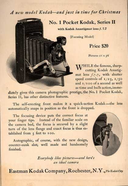 Kodak – A new model Kodak-and just in time for Christmas (1922)