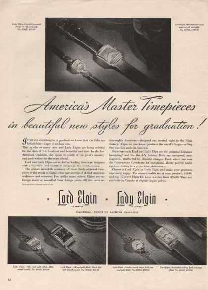 Lord and Lady Elgin Watches (1941)