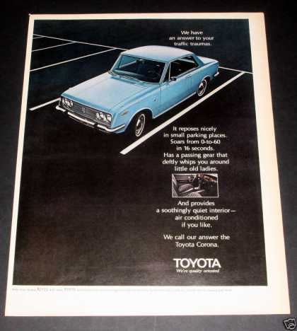 Toyota Corona, All the Answers, Exc (1970)
