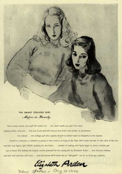 Elizabeth Arden – The Smart College Girl Majors in Beauty (1944)