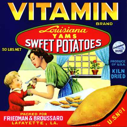 Vitamin Louisiana Yams, c. s (1940)