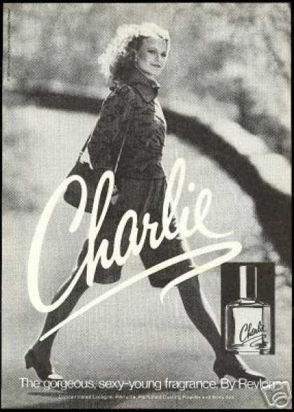 Shelley Hack Photo Revlon Charlie Perfume (1981)