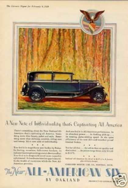 Oakland All-american Six Car Color (1929)