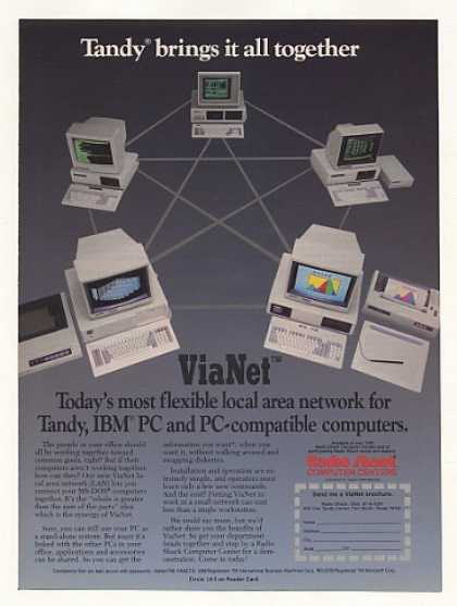 Radio Shack Tandy Computer ViaNet Network (1986)