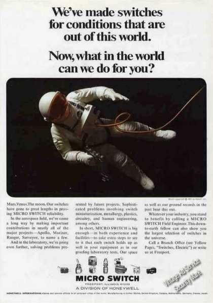 Space Walk Micro Switch Honeywell (1968)