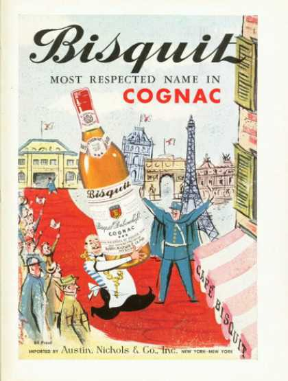 Bisquit Dubouches French Cognac (1958)
