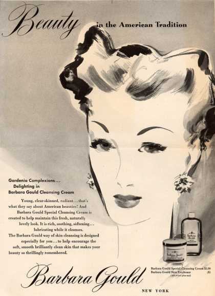 Barbara Gould's Cleansing Cream – Beauty in the American tradition (1945)