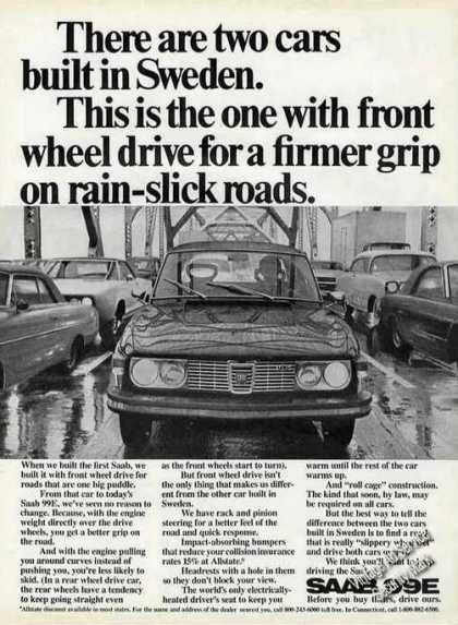 "Saab 99e ""Two Cars Built In Sweden"" Compare (1972)"