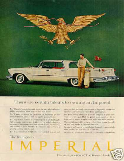 "Chrysler Imperial Car Ad ""There Are Certain... (1958)"