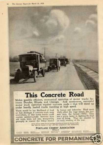 Portland Cement Ad Mack Trucks (1918)