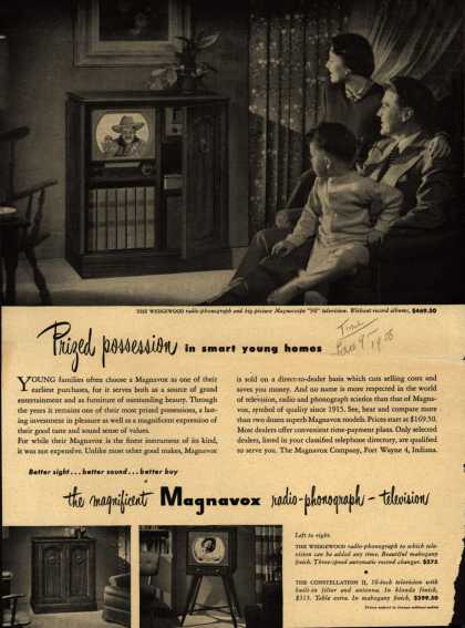 Magnavox Company's various – Prized Possession in smart young homes (1950)