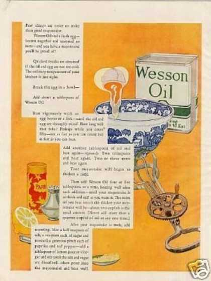 Wesson Oil Color (1925)