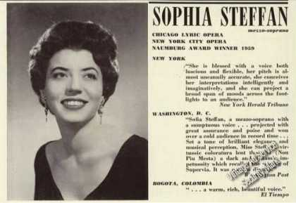 Sophia Steffan Photo Opera Rare (1961)
