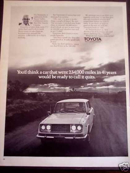 Toyota Corona Cars Vic Tennison (1971)