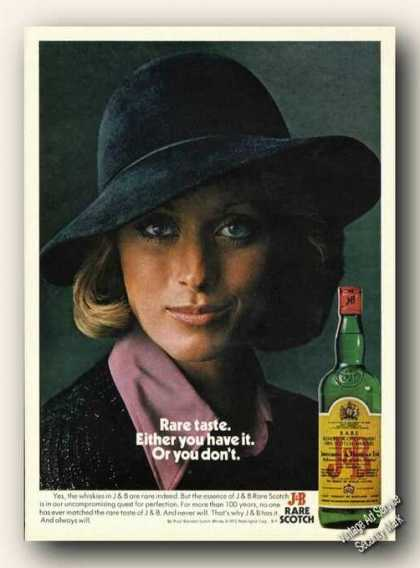 Rare Taste Either You Have It or You Don't J&b (1975)