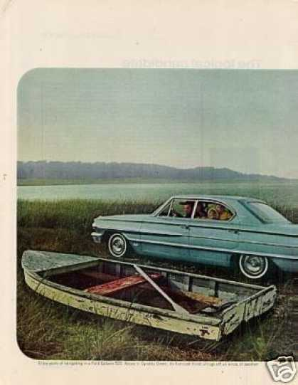 Ford Galaxie 500 Car Ad 2 Page (1964)