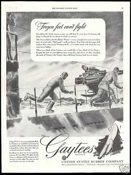 Gaytees U.S Navy Sea Boots WWII Rubber (1943)