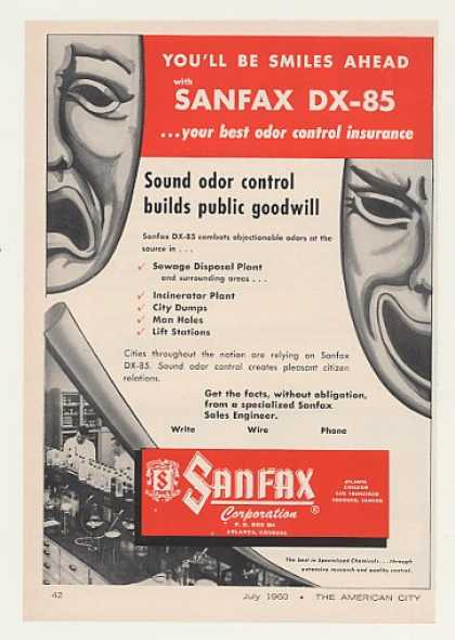 Sanfax DX-85 Odor Control Chemicals (1960)