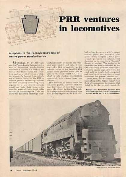 """Prr Ventures In Locomotives"" Article (1949)"