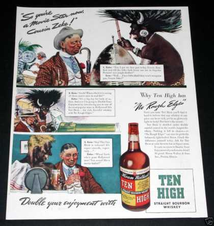 Ten High Whiskey, No Edges (1939)