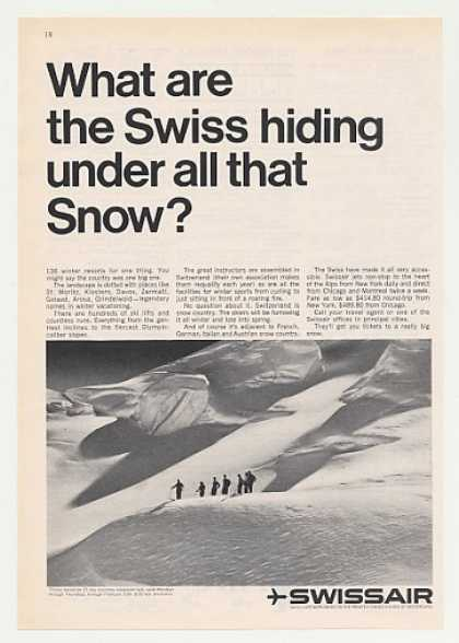 SwissAir Airlines What Swiss Hiding Under Snow (1965)