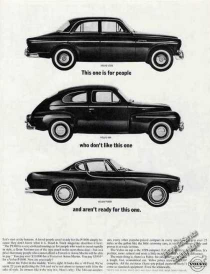 Volvo P1800 Vs Two Other Models Collectible Car (1963)