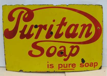 Puritan Soap Enamel Sign
