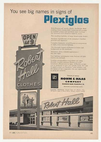 '57 Robert Hall Clothes Store Rohm & Haas Sign Photo (1957)