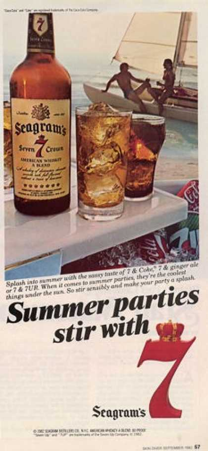 Seagrams 7 American Whiskey T (1982)
