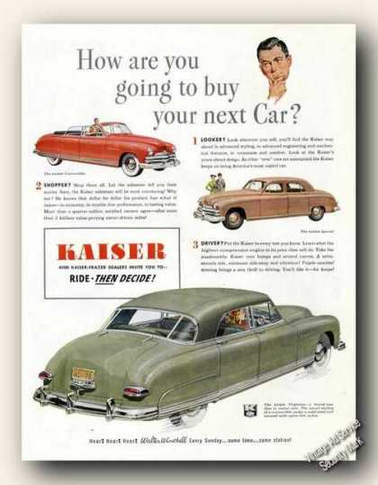 Kaiser 4500 Dealers Invite You To Ride (1949)
