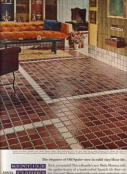 Vintage household ads of the 1960s page 10 for 1960s floor tiles
