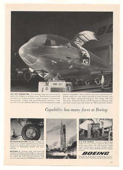 Boeing Cargo Jet Aircraft Photo (1963)