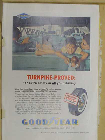 Goodyear tires. Turnpike proved (1961)