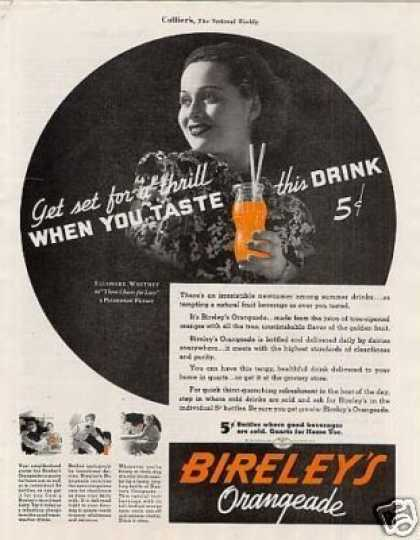 Bireley's Orangeade (1936)