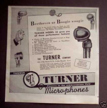 Turner Microphones Model 22 Music (1946)