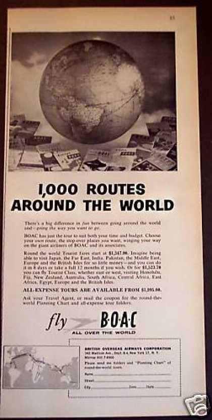 British Overseas Airways Corp Travel (1956)