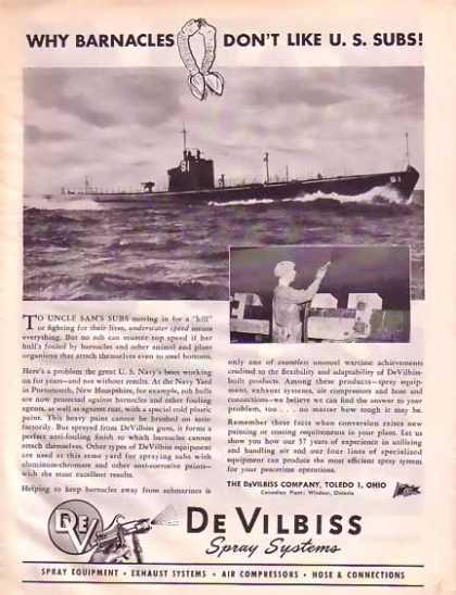 De Vilbiss Spray Systems – U.S. Subs (1945)