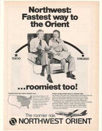 Northwest Orient Airlines Roomiest Seats (1980)