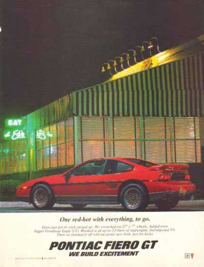 Pontiac Fiero GT Car – Red-hot – Sold (1987)