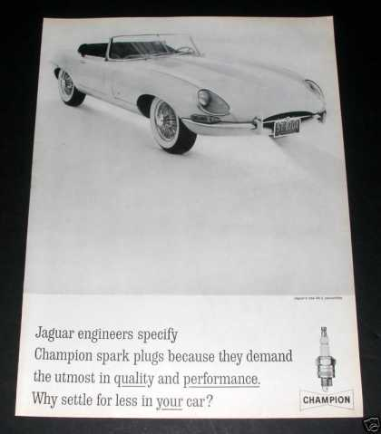 Champion Spark Plugs, Jaguar Xk-e (1961)