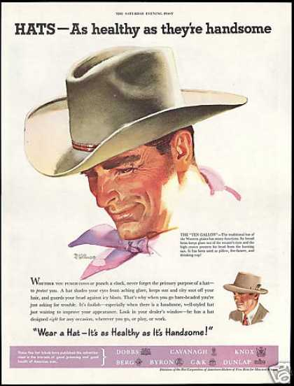 Handsome Cowboy Tomaso Art Hat Corp of America (1952)